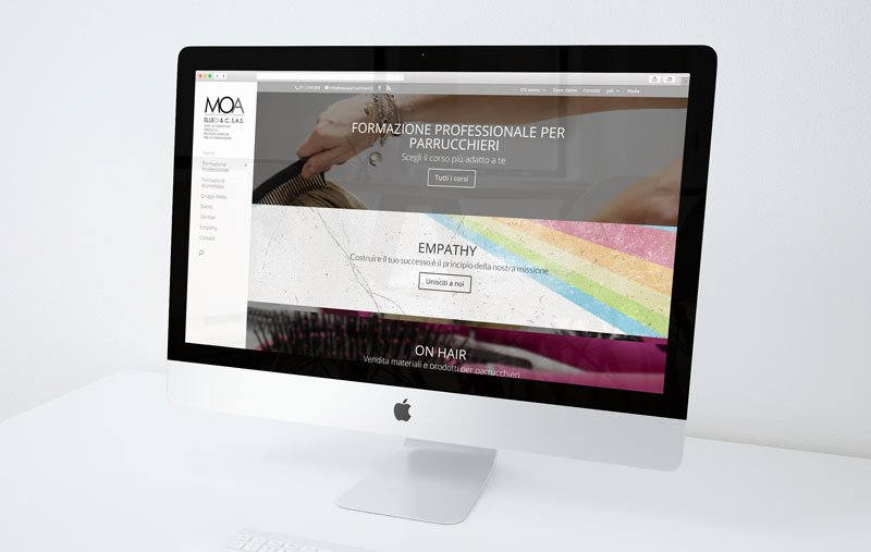MOA Parrucchieri – restyling sito web