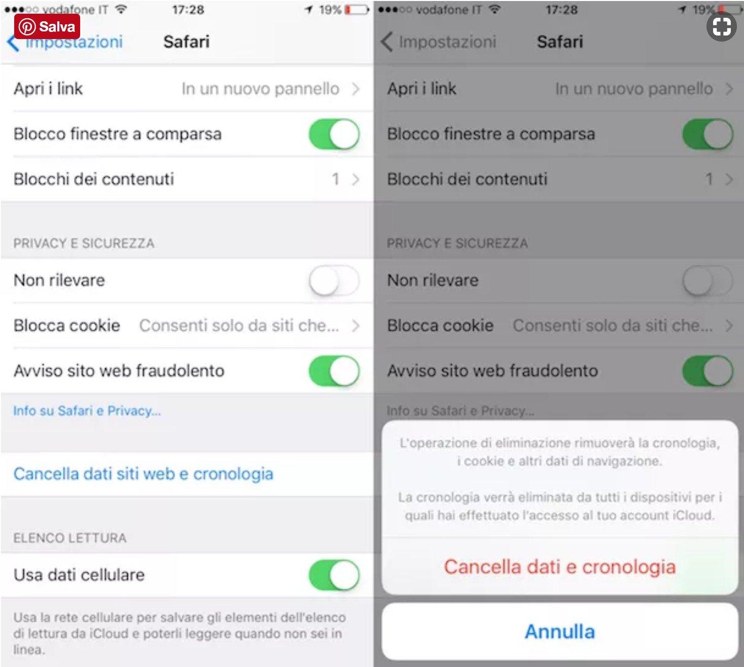 Come eliminare i cookie da Safari su smartphone e tablet
