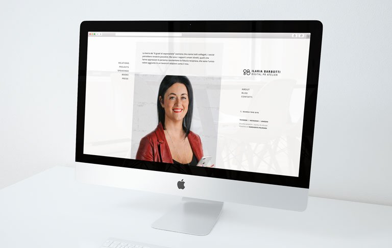 Restyling sito web Ilaria Barbotti