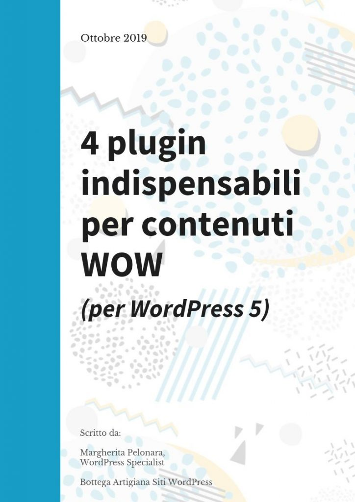 4 Plugin per WordPress 5