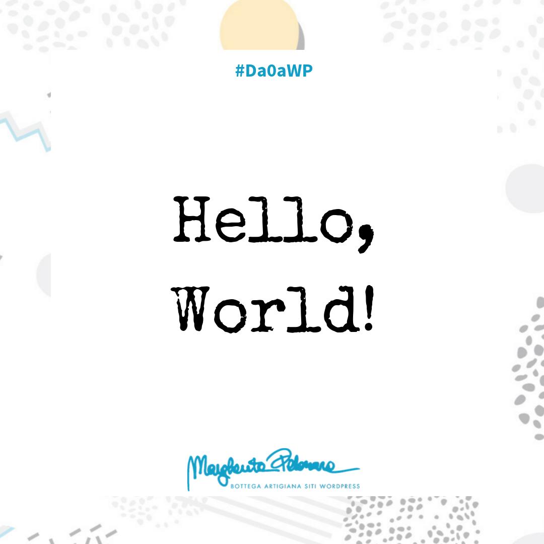 Cancella Hello World e tutti i contenuti dimostrativi