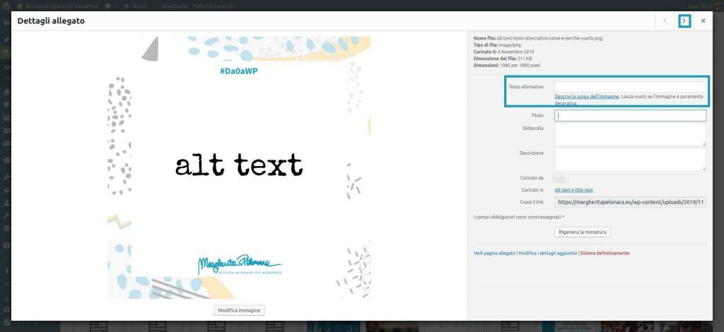 Come aggiungere il testo alternativo alle immagini che hai già caricato in passato.